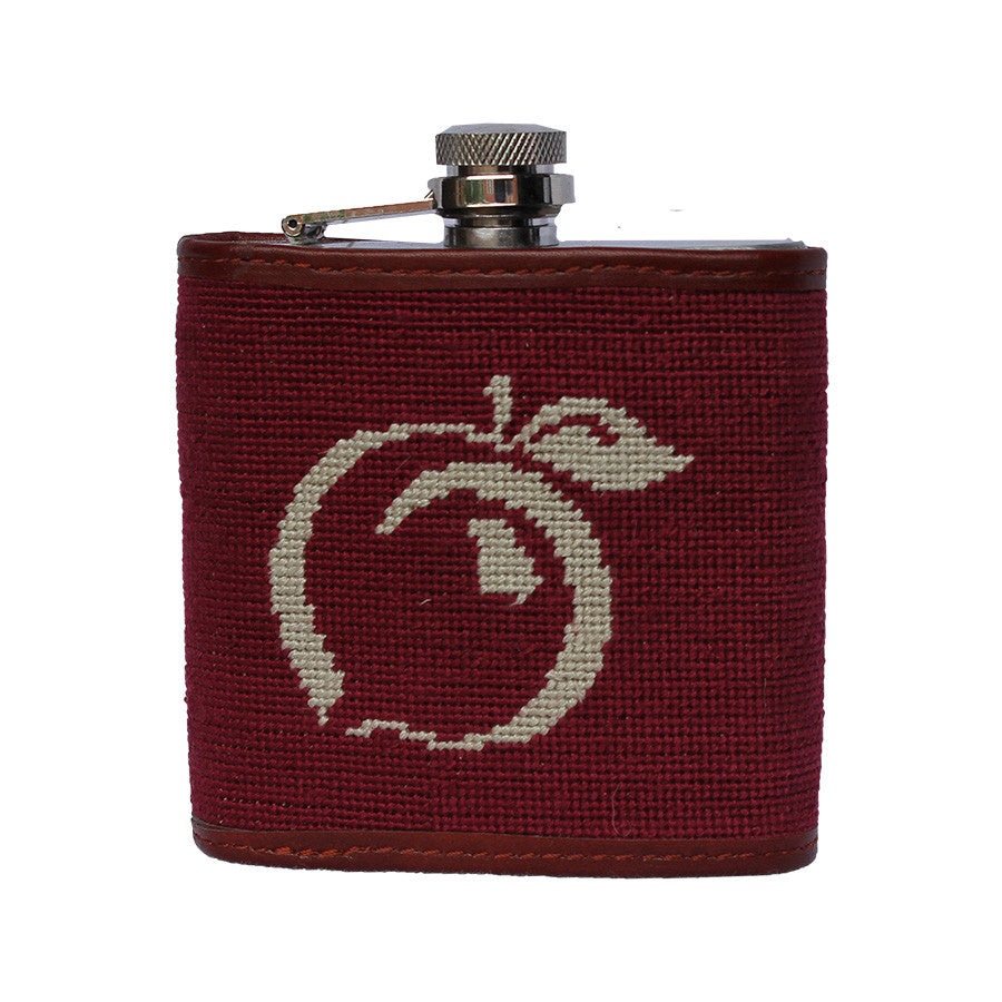 Needlepoint Duck Flask