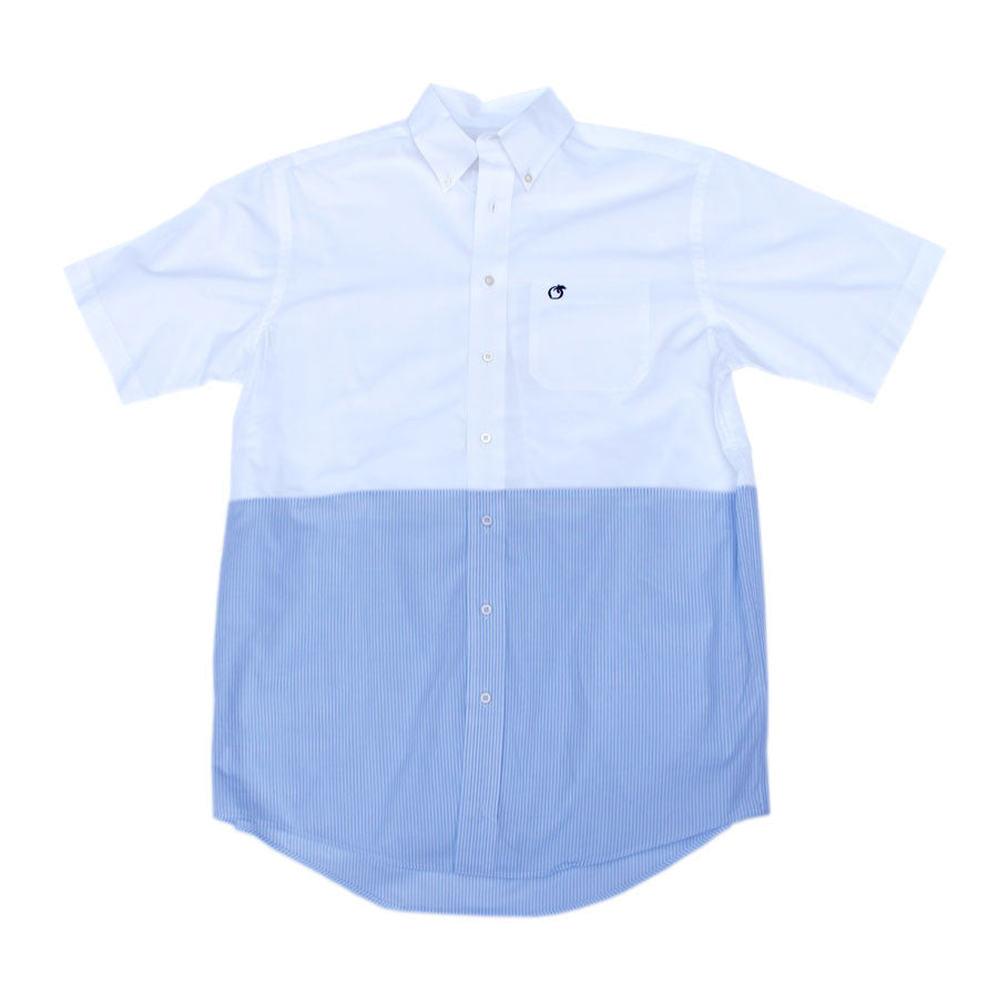 Blue Cumberland Mixer Short Sleeve Button Down