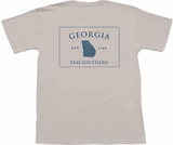 Peach State Pride Georgia County Lines T-Shirt in Oatmeal