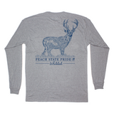 Topo Whitetail Deer Long Sleeve Pocket Tee