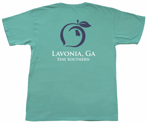 Peach State Pride Regions of Georgia Short Sleeve Pocket Tee