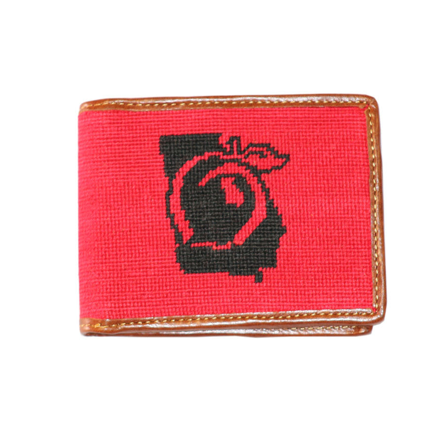 Peach State Pride Needlepoint Wallet