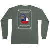 Georgia Established Flag Long Sleeve Pocket Tee