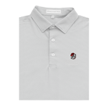 UGA Bulldog Head Loblolly Stripe Polo - Gray & White