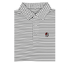 UGA Bulldog Head Charcoal & White Honeysuckle Stripe Polo
