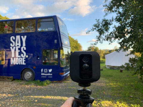 Blink cameras keep solar-powered charity bus secure