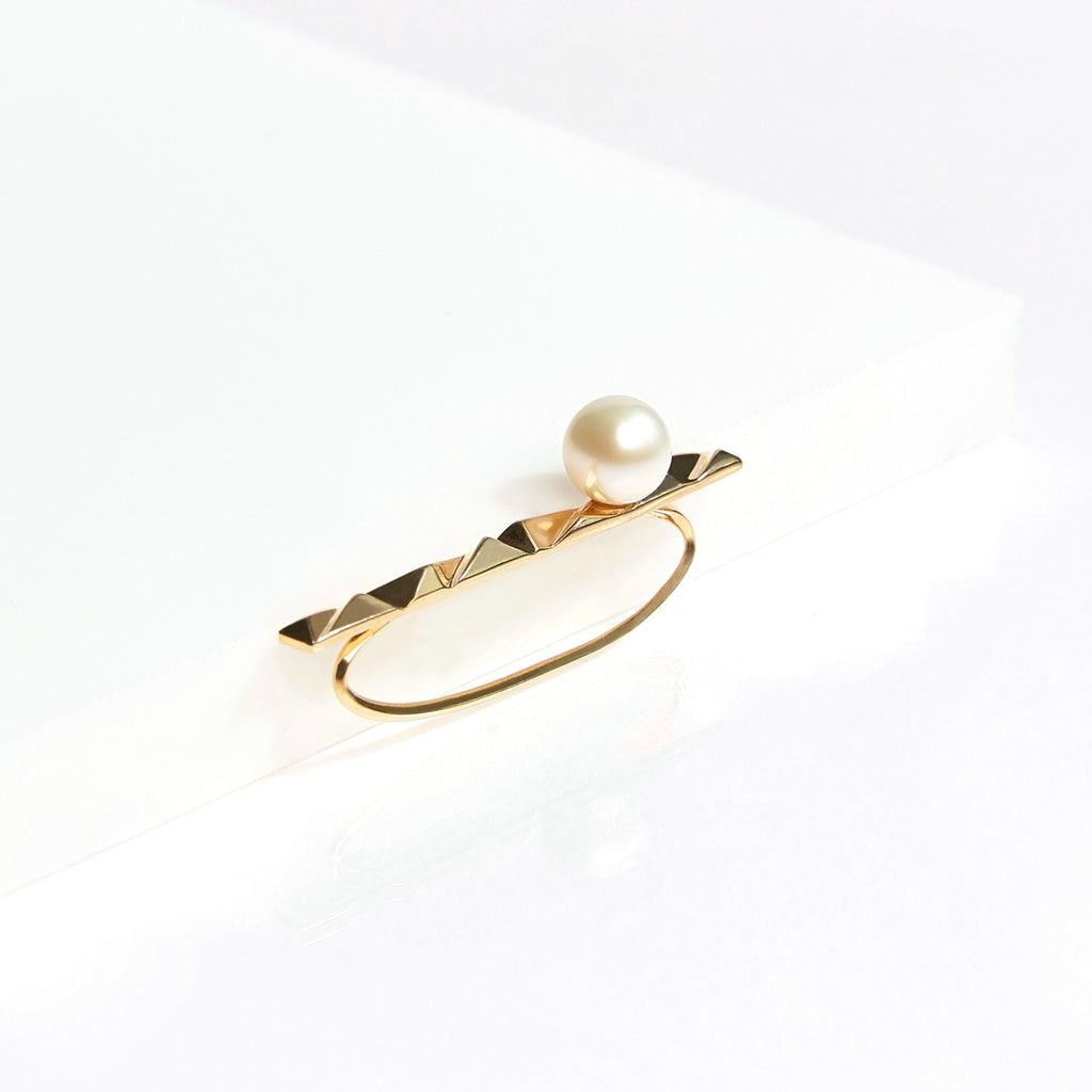 reckon ear cuff with pearl