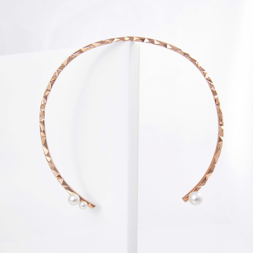 reckon neck cuff with pearls