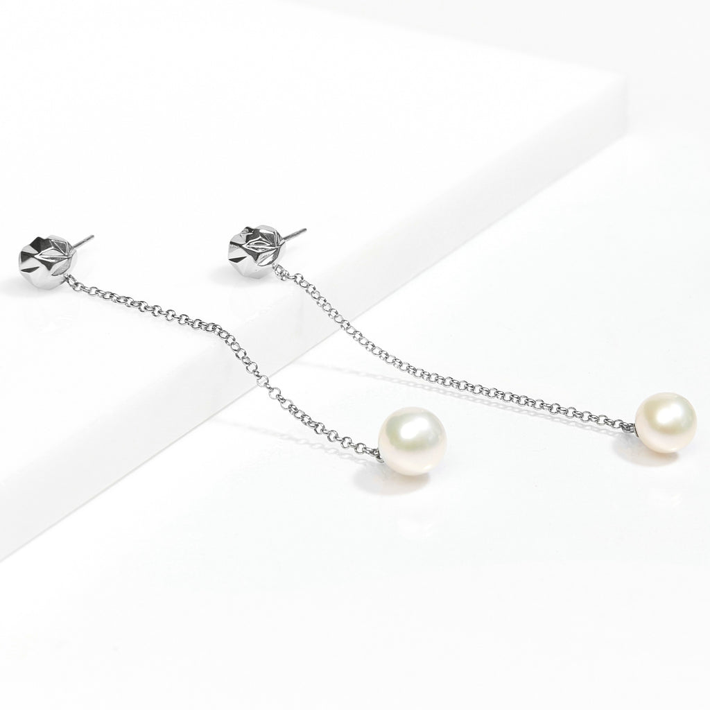 reckon drop earrings with pearls