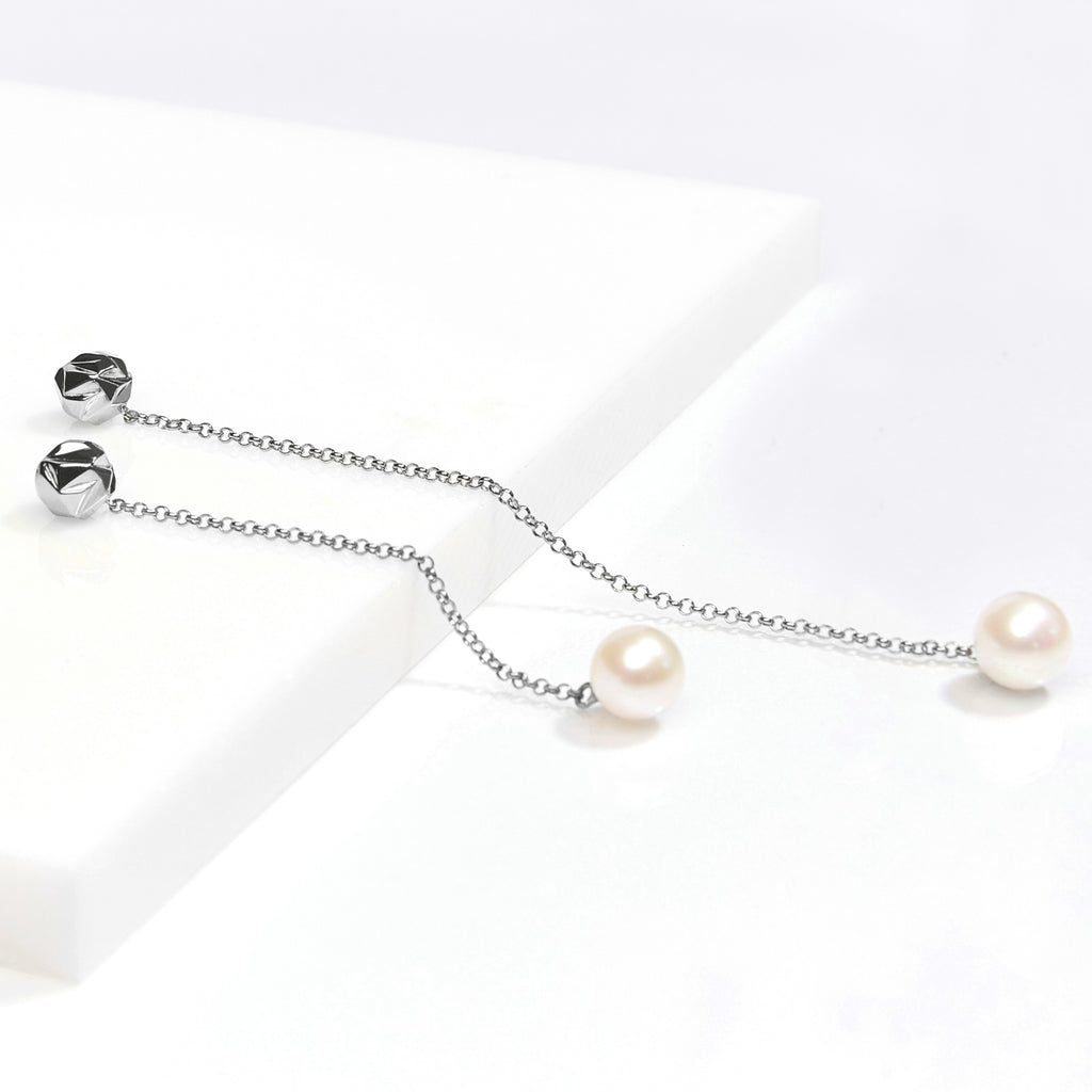 reckon vice versa drop earrings with pearls