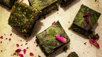 Matcha Blondies Recipe - gluten free & vegan!