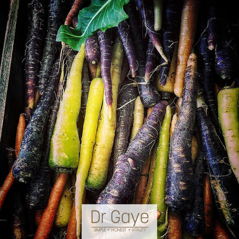 Heirloom Carrots -Nutritional Benefits - Dr Gaye