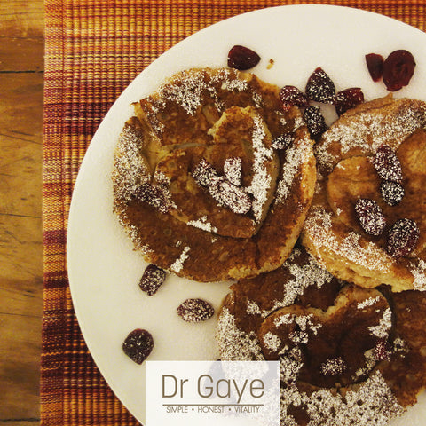 Gluten-Free Buckwheat Pancakes with Dr Gaye Super-Blend