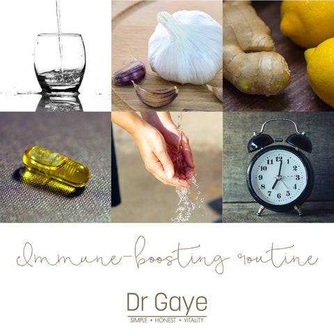 Immune-boosting routine - 6 steps to prevent catching a cold - Dr Gaye