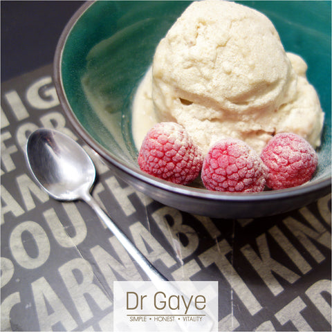 Super-Golden nice cream - raw vegan ice cream with turmeric