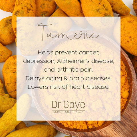 Turmeric health benefits - Dr Gaye