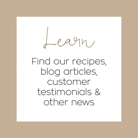 Learn | Dr Gaye | recipes, blog articles, customer testimonials and news