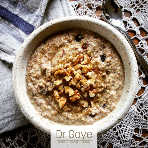 Apple Pie Porridge recipe - Dr Gaye - Super-Porridge