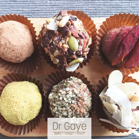 Raw Salted Caramel Truffles by Dr Gaye