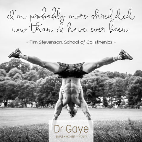 Tim Stevenson - School of Calisthenics - Testimonials for Dr Gaye - 21-Day Dr Gaye Summer Cleanse and Super-Shake