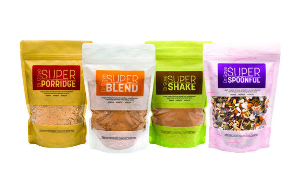 Super Porridge, Super blend, Super Shake and Super Spoonful