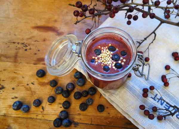 Dr Gaye Super-Blend - superfood blend - health food products - natural raw organic - blueberry smoothie protein powder