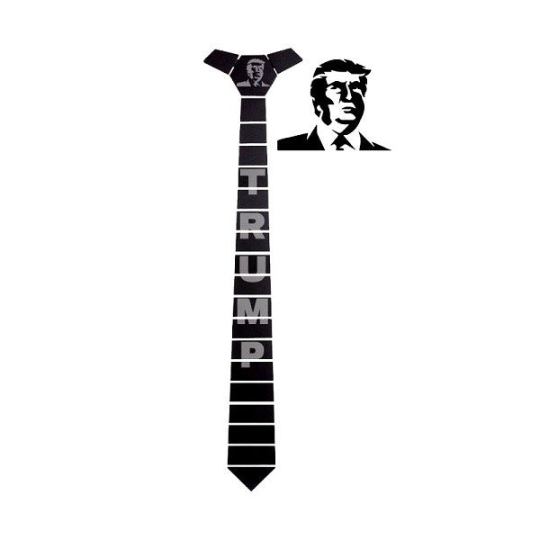 Donald Trump Black Lines Tie