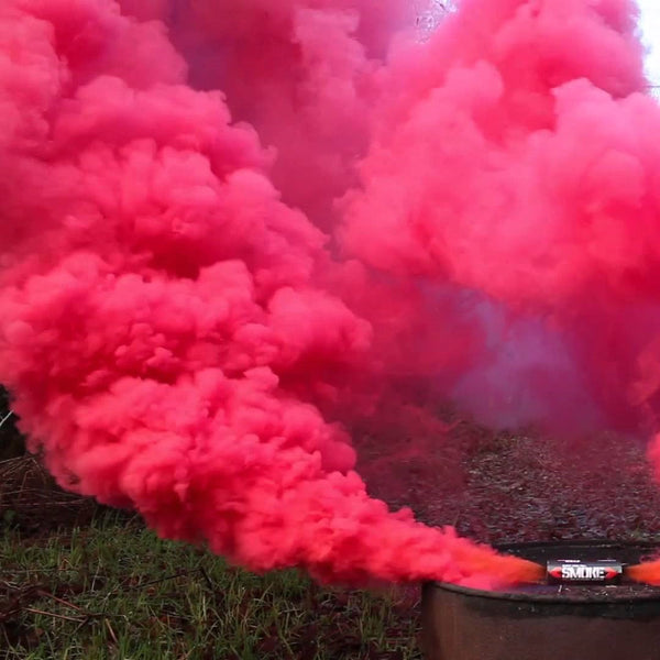 Red Colorful Smoke Grenade