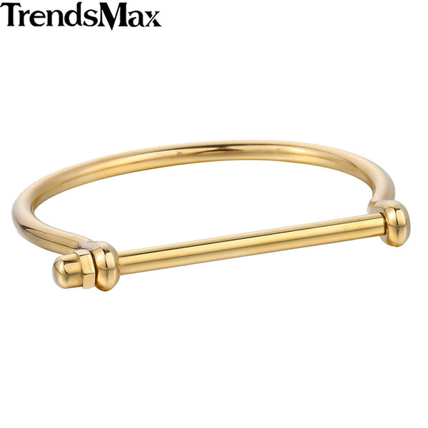 Fashion Shackle Screw Bracelet Wristband Stainless Steel D Bracelet