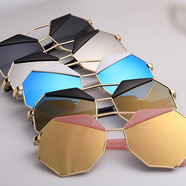 Classic Designer Polygon Mens Sunglasses