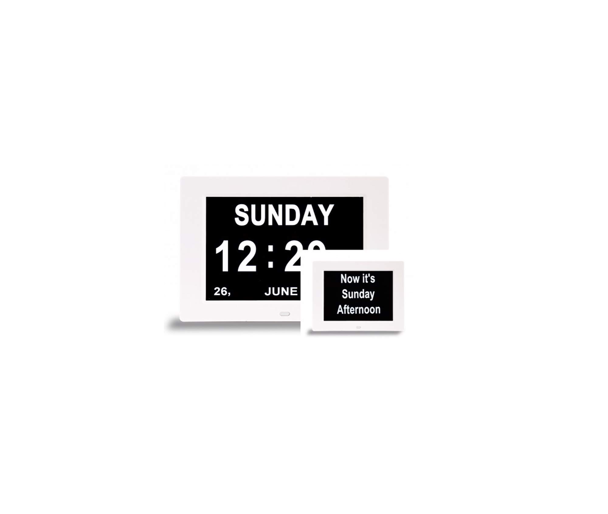 Dual Display Digital Clock - 8 Inch