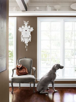 Cuckoo Clock as Home Decor with Dog