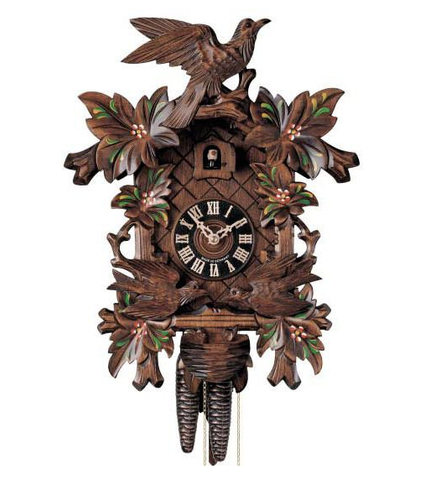 "Hones 12.5"" 1 Day 400/3F Carved Cuckoo Clocks"