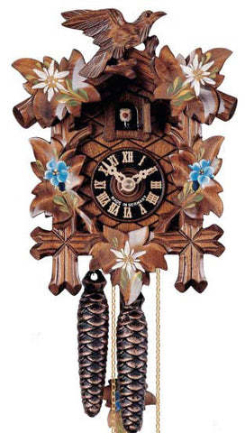 "Hones 8.5"" 1 Day Carved 100ENZ Cuckoo Clock"
