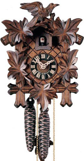 "Hones 8.5"" 1 Day Carved 100SNU Cuckoo Clocks"