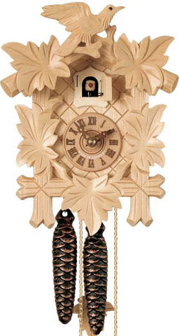 "Hones 8.5"" 1 Day Carved 100NAT Cuckoo Clock"