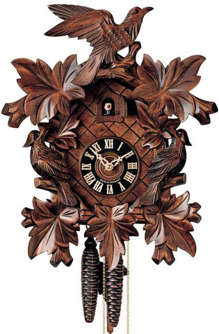 "Hones 10"" 1 Day Carved 101/2 Cuckoo Clocks"