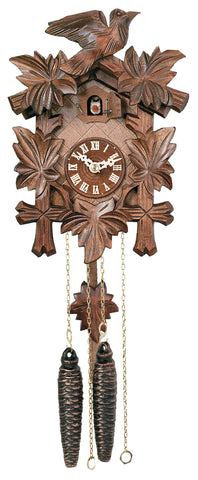 Engstler 1 Day Cuckoo Clock with Leaves & Bird 11-09