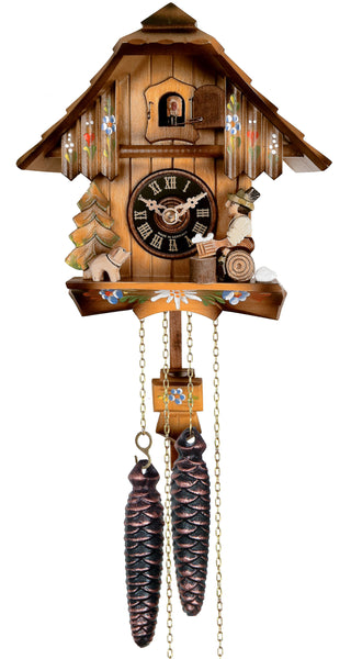Engstler 1 Day Chalet Cuckoo Clock with Beer Drinker 12-09P