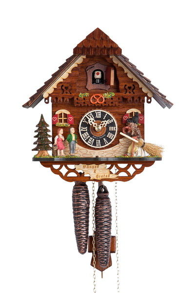 Hones 1 Day Cuckoo Clock Featuring Hansel and Gretel 1213