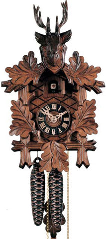 Hones 1 Day Carved Cuckoo Clock Hunting Style 1223