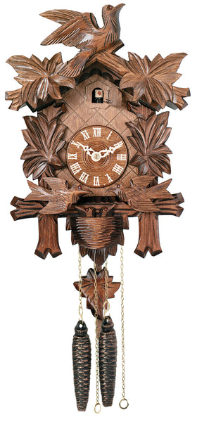 Engstler 1 Day Carved Cuckoo Clock with Moving Birds 15-13