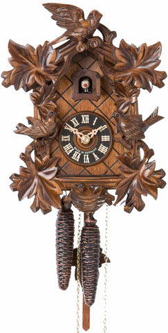 "Hones 10"" 1 Day Carved 1714/2 Cuckoo Clocks"
