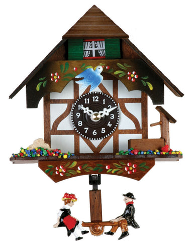 Quartz German Novelty Clock  with Bird & Well 2070Q-06