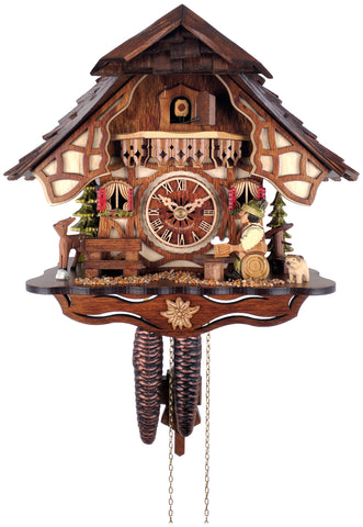 Engstler 1 Day Chalet Cuckoo Clock Beer Drinking 26-11