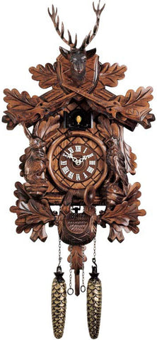 "Hones 16"" Quartz Carved 334Q Cuckoo Clock"