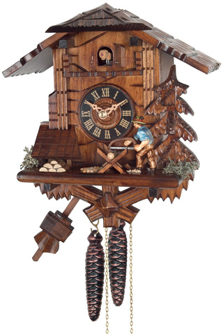 Engstler 1 Day Cottage Cuckoo Clock Wood Saw 34-10