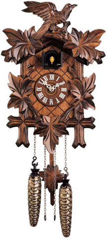 "Hones 14"" Quartz Carved 350Q Cuckoo Clock"