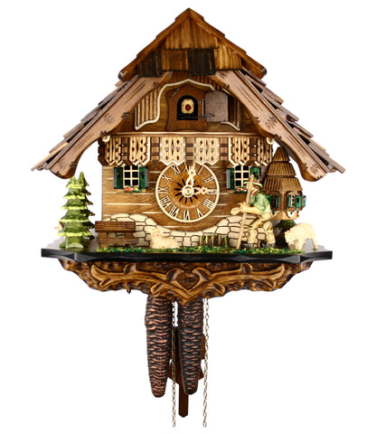 Engstler 1 Day Chalet Cuckoo Clock With Volksmarcher 40-10