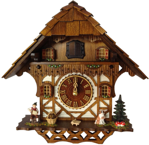 "Hones 12"" Quartz Chalet 404Q Cuckoo Clock"